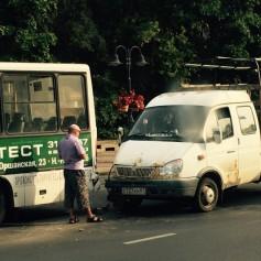 «Газель» протаранила автобус с пассажирами в районе Медгородка в Смоленске