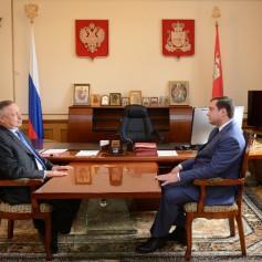 Губернатор встретился с Полномочным представителем Президента РФ в ЦФО Александром Бегловым