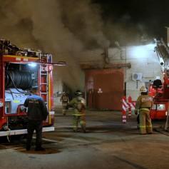 В Смоленске сгорел табачный склад