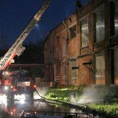 Крупный пожар произошел сегодня ночью в Ярцево