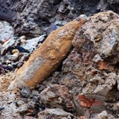 На улице Кашена нашли снаряд времён ВОВ