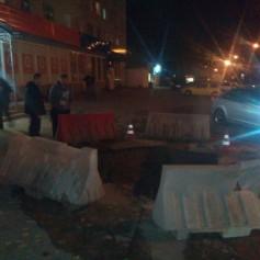 Авария на магистральном трубопроводе на улице 25 Сентября ликвидирована