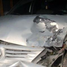 В Смоленской области в ДТП сгорел автомобиль. Есть пострадавший