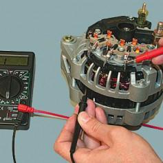 Проверка работоспособности автомобильного генератора