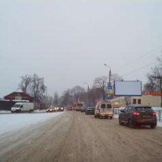 Непогода парализует движение транспорта в Смоленске