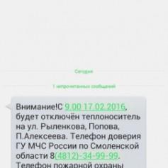 МЧС информирует население о происшествиях по средствам SMS-рассылки