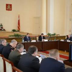 Губернатор провел совещание по обеспечению правопорядка