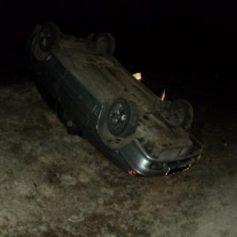 В Ельнинском районе водитель погиб, опрокинувшись на скользкой дороге