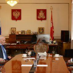 Алексей Островский встретился с Госсекретарем Союзного государства Григорием Рапотой