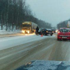 Сегодня утром Смоленск стоял в пробках из-за множества ДТП
