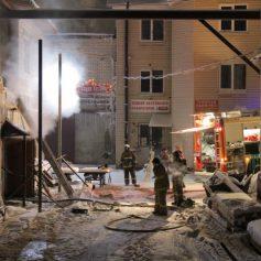 В Смоленске ночью сгорела сауна
