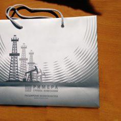 Изготовление бумажных пакетов с логотипом.