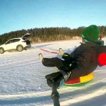 В Смоленской области подросток едва не погиб катаясь на тюбинге за машиной