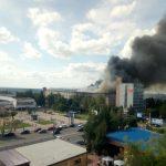 В Смоленске устанавливаются причины пожара на фабрике «Шарм»