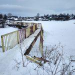 В райцентре Смоленской области сломался мост
