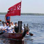 На Десногорское водохранилище вышла флотилия «драконов»