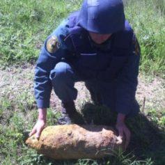 В Велижском районе саперы уничтожили авиабомбу и ручную гранату