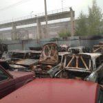 В Сафоновском районе сгорели 17 автомобилей на штрафстоянке