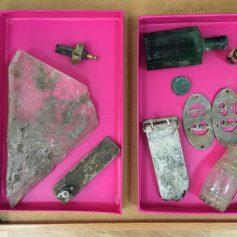 Французский археолог подарил калужской гимназии куски поднятого из смоленского болота истребителя