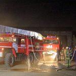 В Смоленске огнеборцы тушили цех по производству пластиковых изделий