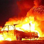 На Кашена в Смоленске горела отечественная машина