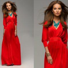 Красное платье в пол – как носить и с чем сочетать?