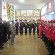 В музее «Смоленщина в годы Великой Отечественной войны 1941-1945 гг.» состоялась торжественная передача знамени юнармейскому отряду