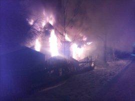 86-летний мужчина погиб в горящем доме в Духовщинском районе