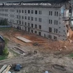 Снос смоленского ртутного завода попал на видео