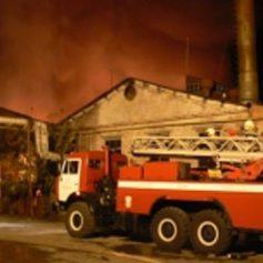 В селе Ершичи произошел пожар в производственном помещении