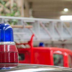 В Руднянском районе сгорели гараж и автомобиль