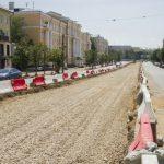 Нечетную сторону проспекта Гагарина в Смоленске перекрыли