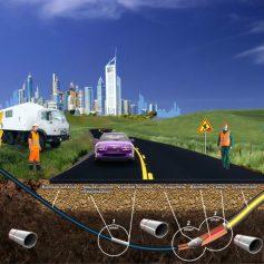 Прокол дороги под кабель