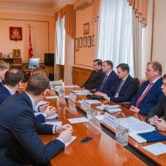 Алексей Островский провел рабочую встречу с президентом компании «Ростелеком» Михаилом Осеевским