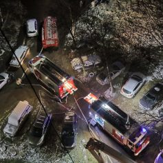 Ночью в Смоленске из пожара спасли женщину и двоих детей