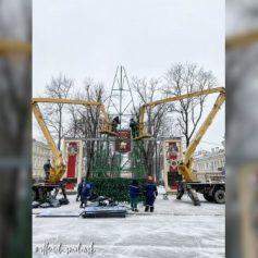 В Смоленске завершили монтаж главной городской елки