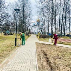 По поручению губернатора провели генеральную уборку Парка 1100-летия Смоленска