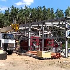 В поселке Пржевальское продолжается строительство новой котельной