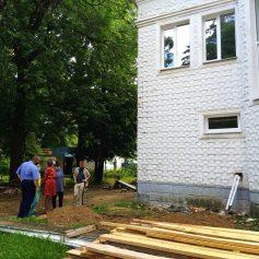 В поселке Верхнеднепровский продолжается ремонт Дома культуры «Лира»
