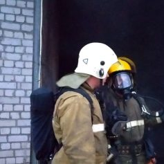 В Смоленском районе произошел пожар на пилораме